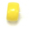 Glass Mini Crowbead 6mm Opaque Yellow